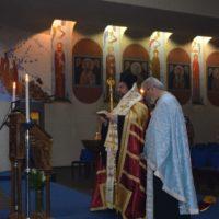 Η ακολουθία της Α' Στάσεως του Ακαθίστου Ύμνου στον ιερό ναό του Αποστόλου Παύλου του εν Σαμπεζύ της Γενεύης Πατριαρχικού Σταυροπηγίου.