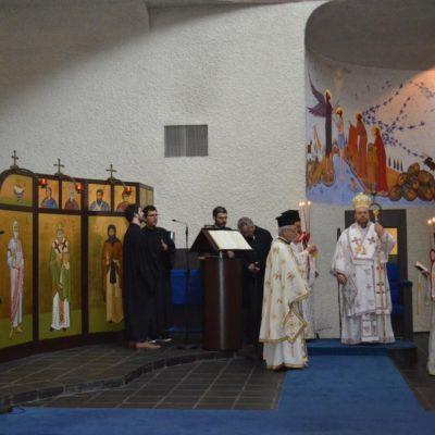 Πεντηκοστή και Εσπερινός της Γονυκλισίας, στον Ιερό Σταυροπηγιακό Ναό του Αγίου Παύλου στο Σαμπεζύ Γενεύης